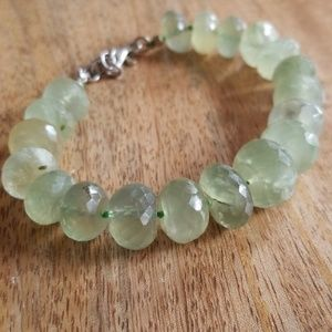 Lime green prehnite bracelet